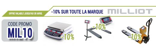 PROMO: Économisez -10% sur votre balance marque Milliot